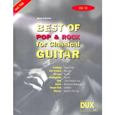 Best of Pop + Rock for classical guitar 10