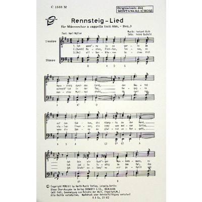 rennsteig-lied, 1.50 EUR @ notenbuch-de