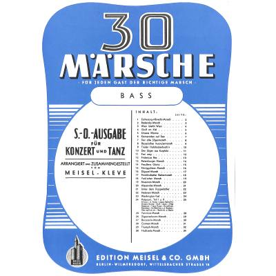 30 Märsche für Salonorchester