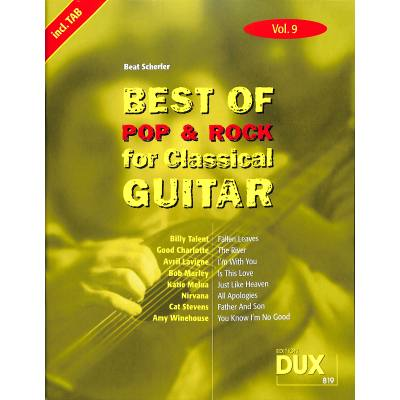 Best of Pop + Rock for classical guitar 9
