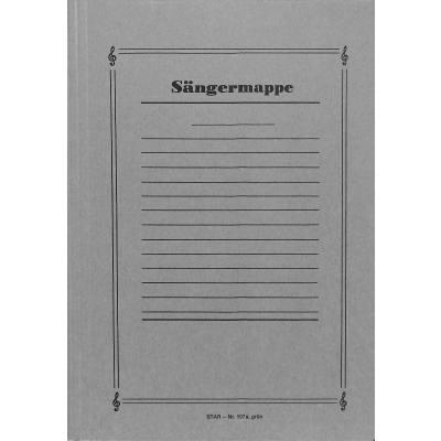 NOTENUMSCHLAG A4 - SAENGERMAPPE MIT STIRN + SEITENKLAPPEN