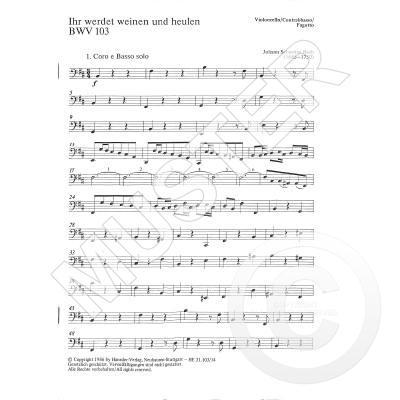 KANTATE 103 IHR WERDET WEINEN UND HEULEN BWV