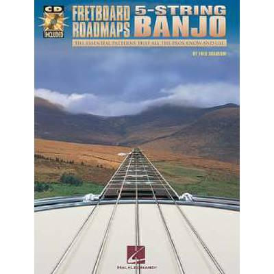 Fretboard roadmaps - 5 string Banjo