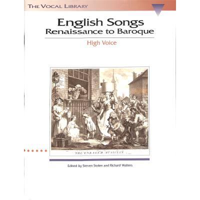 ENGLISH SONGS - RENAISSANCE TO BAROQUE