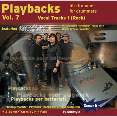 PLAYBACKS FUER DRUMMER 7 - VOCAL TRACKS 1 (ROCK)