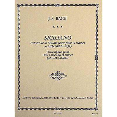 SICILIANO (SONATE 2 BWV 1031)