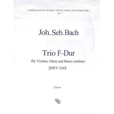 Trio F-Dur BWV 1040