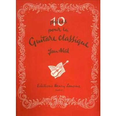 10 pieces pour la guitare classique op 111