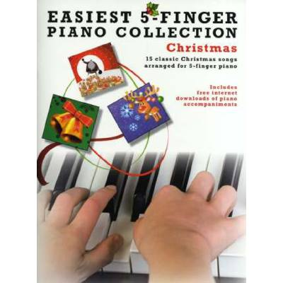 Easiest 5 finger piano collection - christmas