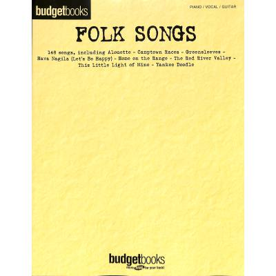 BUDGET BOOKS - FOLK SONGS