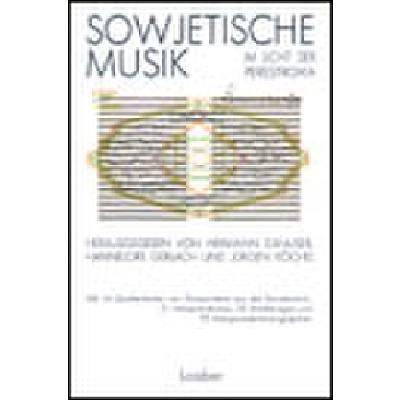 Sowjetische Musik Im Licht Der Perestroika