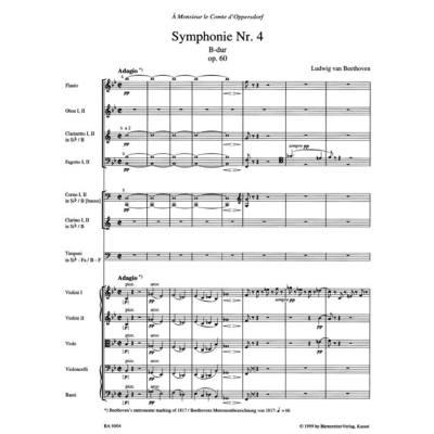 Sinfonie 4 B-Dur op 60