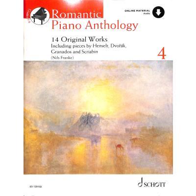 ROMANTIC PIANO ANTHOLOGY 4   14 Originalwerke - broschei