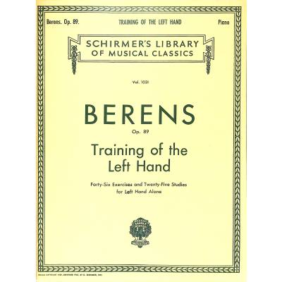 TRAINING OF THE LEFT HAND OP 89