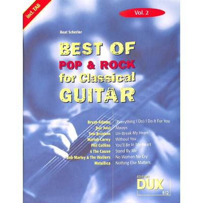 Best of Pop + Rock for classical guitar 2