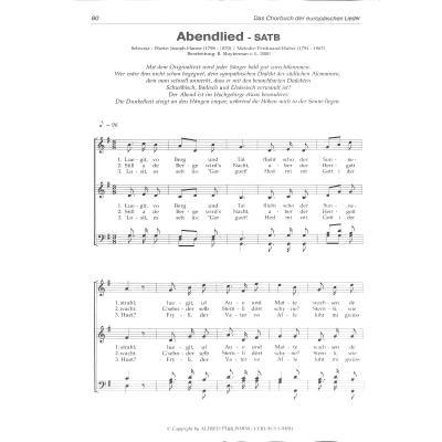 Musiknoten Gemischter Chor Noten Das Chorbuch der europäischen Lieder
