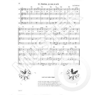 Flöten Noten Weihnachtslieder.Advents Weihnachtslieder