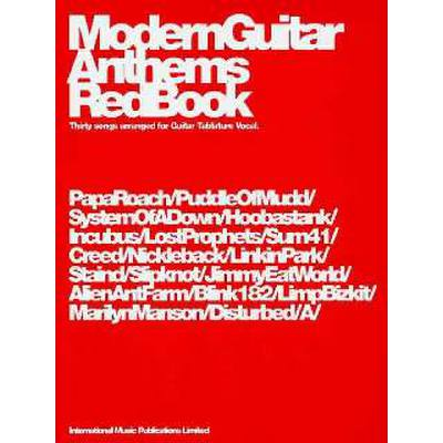 MODERN GUITAR ANTHEMS RED BOOK
