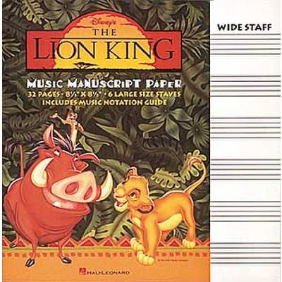 THE LION KING MANUSCRIPT PAPER | NOTENHEFT