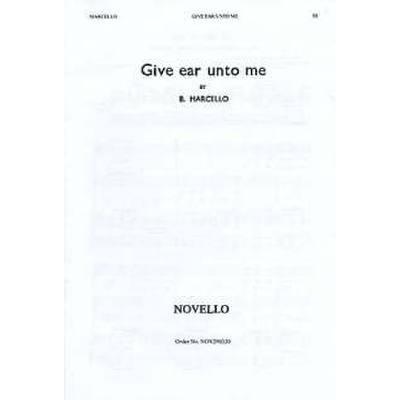 give-ear-unto-me, 2.95 EUR @ notenbuch-de