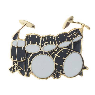 anstecknadel-schlagzeug-double-bass-drum-set-