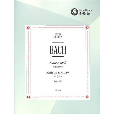 Suite e-moll BWV 996
