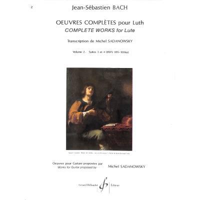 LAUTENWERK 2 SUITE 3 + 4 BWV 995-1006A
