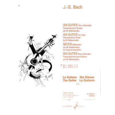 6 Suiten Bd 1 (Nr 1-3) nach BWV 1007-1012
