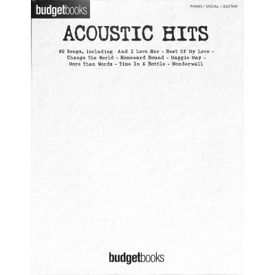 BUDGET BOOKS - ACOUSTIC HITS