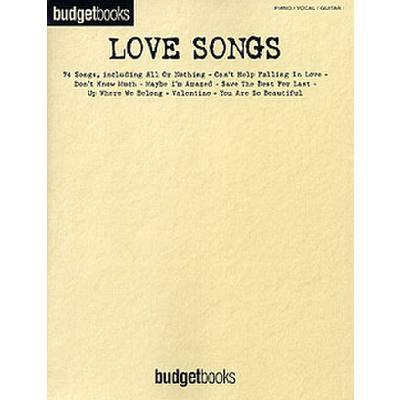 BUDGET BOOKS - LOVE SONGS