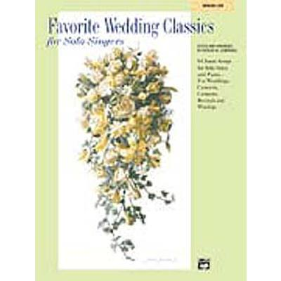 FAVORITE WEDDING CLASSICS FOR SOLO SINGERS - ME...