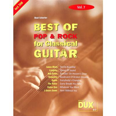 Best of Pop + Rock for classical guitar 7