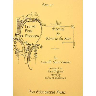 Spartan Press Music Saint-saëns - Pavane & Reverie Du Soir Flute Et Piano jetztbilligerkaufen