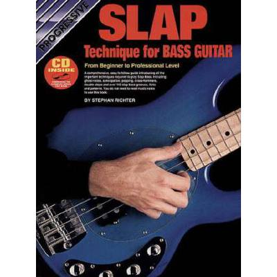Progressive slap technique for bass guitar
