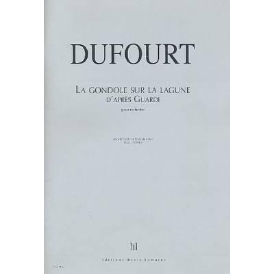 LA GONDOLE SUR LA LAGUNE (2001)