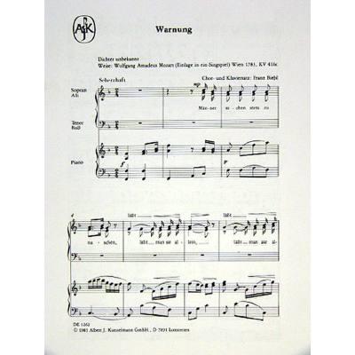 Warnung KV 433 Männer suchen stets zu naschen - Notenbuch.de