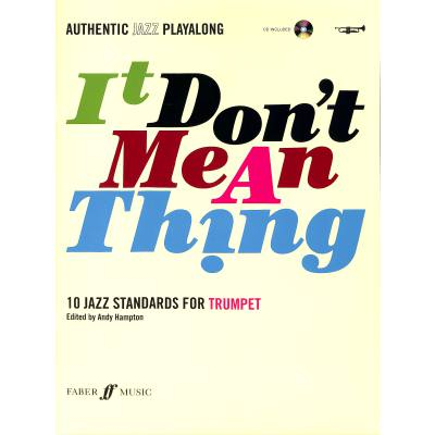 Faber Music Hampton Andy - It Don´t Mean A Thing + Cd Trumpet And Piano - broschei
