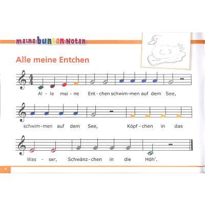Weihnachtslieder Noten Für Glockenspiel.Meine Bunten Noten Für Das Glockenspiel Bekannte Beliebte