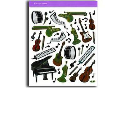 stickers-keyboard-instruments-aufkleber-instrumente-sortiert