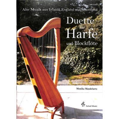 Duette fuer Harfe und Blockfloete   Alte Musik ...