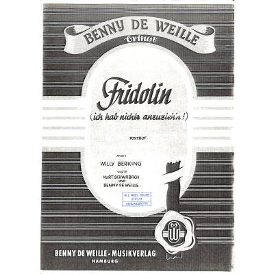 Fridolin (ich hab nichts anzuzieh´n) jetztbilligerkaufen