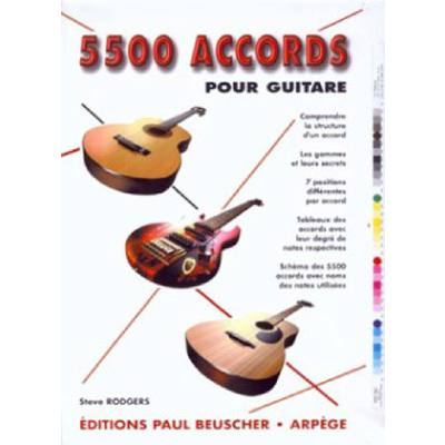 5500 accords pour guitare | Grifftabelle
