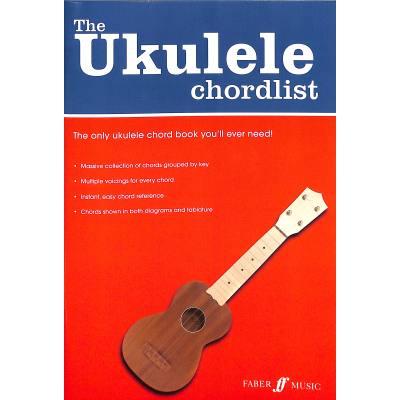 The ukulele chordlist