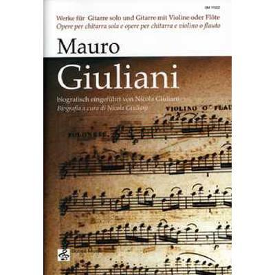 Werke für Gitarre solo und Gitarre mit Violine ...