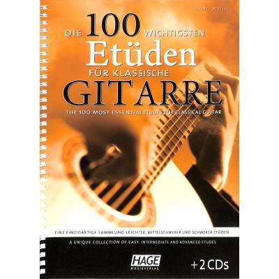 Die 100 wichtigsten Etüden für klassische Gitarre