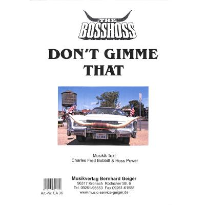 Don´t gimme that
