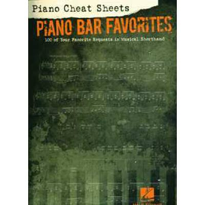Piano cheat sheets - Piano Bar favorites