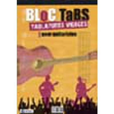 Bloc tabs (tablatures vierges) pour guitaristes | Notenblock mit Tabulatur