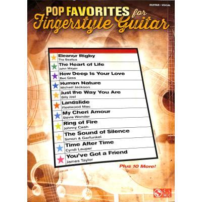 Pop favorites for fingerstyle Guitar