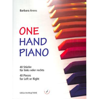 One hand Piano | 40 Stuecke fuer links oder rechts